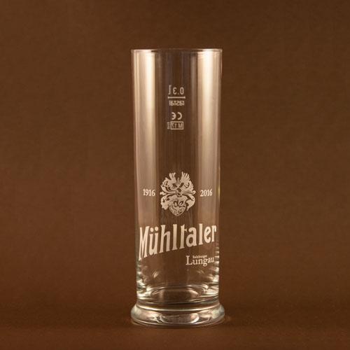 Mühltaler Bier Glas Stange 0,3 l